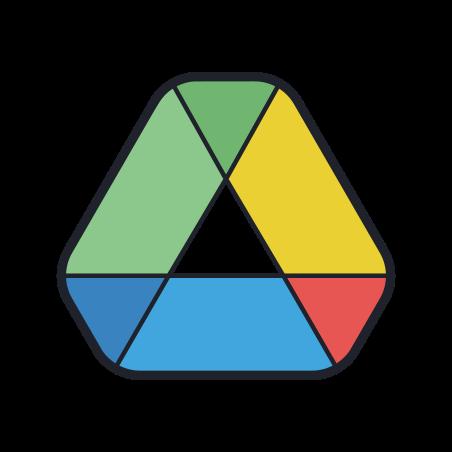 Google Drive icon in Color Hand Drawn