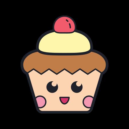 Kawaii Cupcake icon