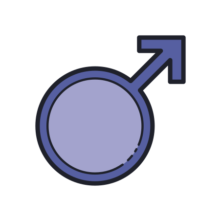 Male icon in Color Hand Drawn