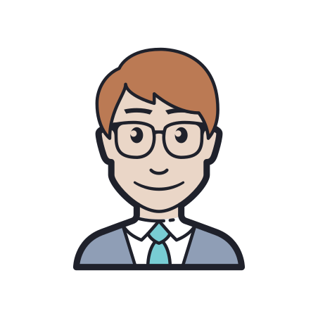 Manager icon in Color Hand Drawn