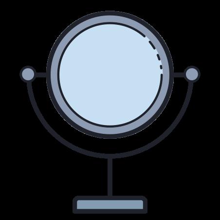 Mirror icon in Color Hand Drawn