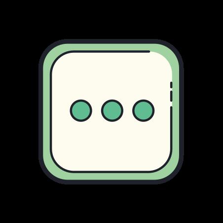 More icon in Color Hand Drawn