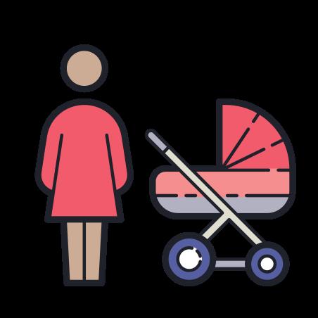 어머니 icon in Color Hand Drawn
