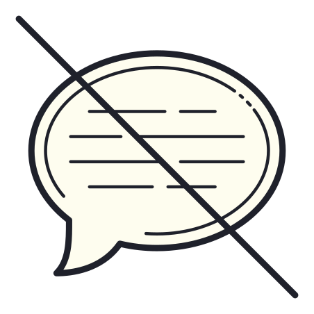No Chat Message icon