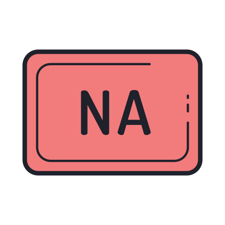 Not Applicable icon in Color Hand Drawn