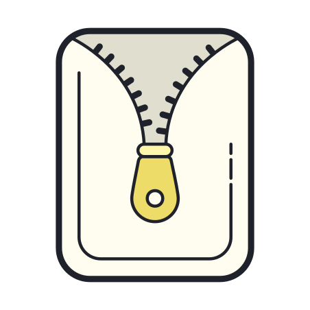 Open Archive icon in Color Hand Drawn