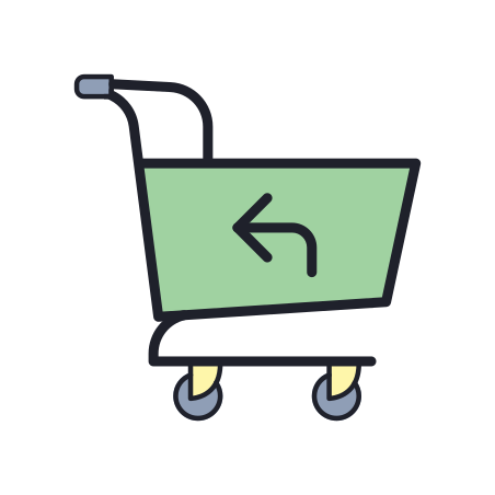 Return Purchase icon in Color Hand Drawn