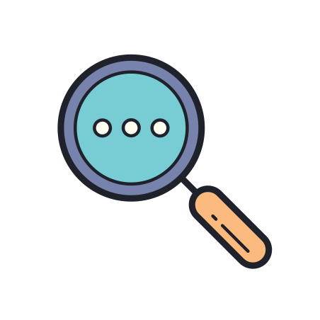 Search More icon in Color Hand Drawn