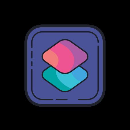 Shortcuts icon in Color Hand Drawn