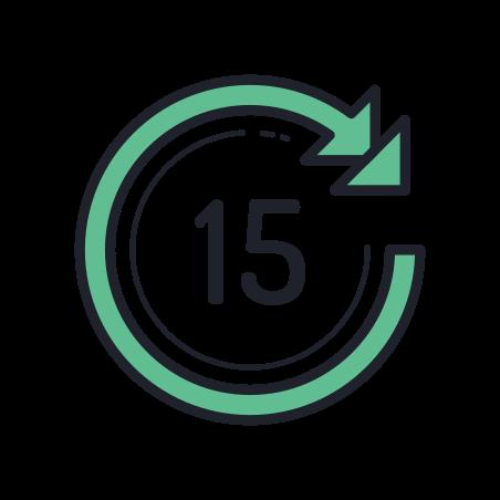 Skip Ahead 15 Seconds icon