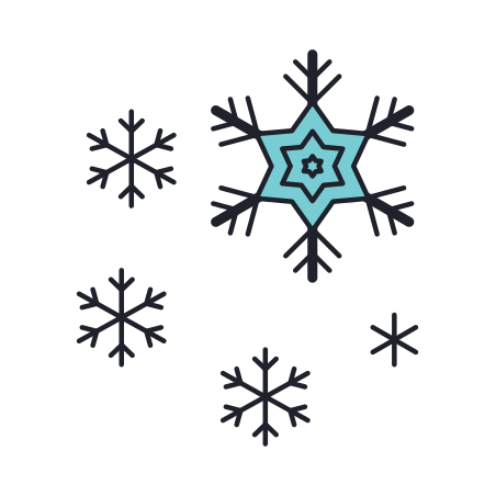 Snow Storm icon in Color Hand Drawn