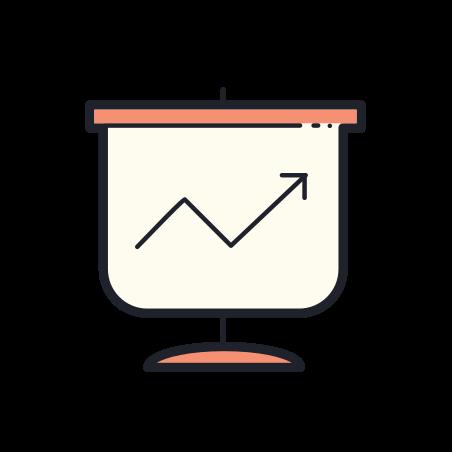Statistics icon in Color Hand Drawn
