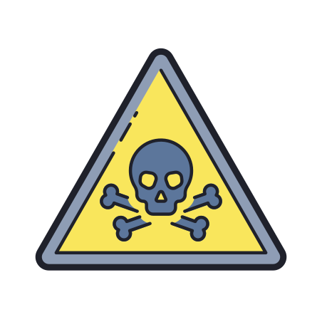 Toxic Material icon in Color Hand Drawn