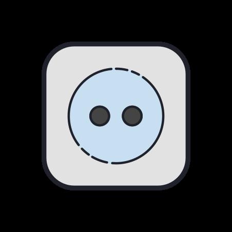 Tumble Dry Medium Heat icon in Color Hand Drawn