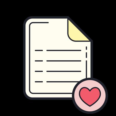 위시리스트 icon in Color Hand Drawn