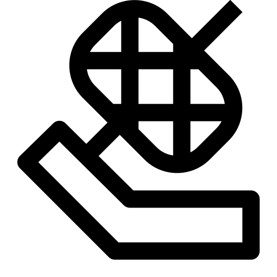 Spool icon. This image depicts a ball winder. There is a rectangle on the bottom with a piece connected to the left side of it. Surrounding this piece is a rounded rectangle with criss-crossing lines in it.