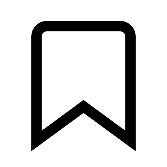 Закладка лента icon. The image appears to be a flag or banner. The basic shape is a rectangle with the long sides standing vertically. At the bottom instead of a straight line to close the rectangle the center point of that line dips up like a triangle is missing from the bottom of the rectangle.