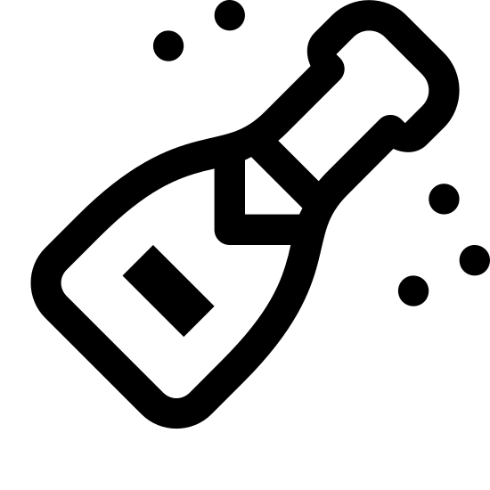 Butelka szampana icon