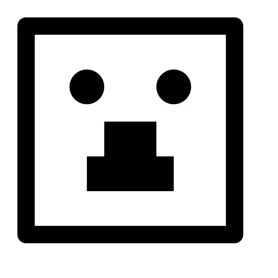 """Gniazdko elektryczne z internetem icon. This icon """"Lan Over Powerline"""" looks similar to an electrical socket. It's a large rectangle with a height greater than its width. Inside of the rectangle, at the top, is a circle, inside of which are two small holes next to one another. At the bottom of the rectangle is small rectangular shape with three black lines at its top."""