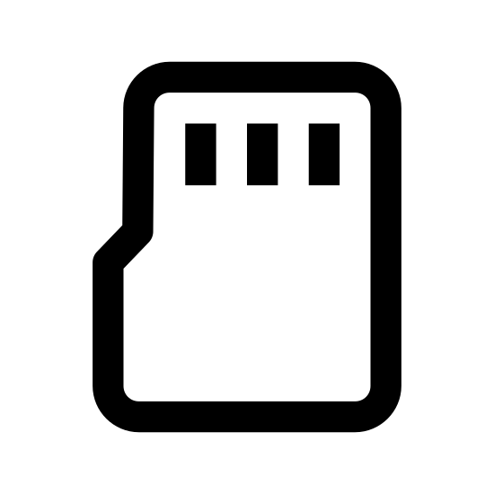 Карта памяти Micro SD icon