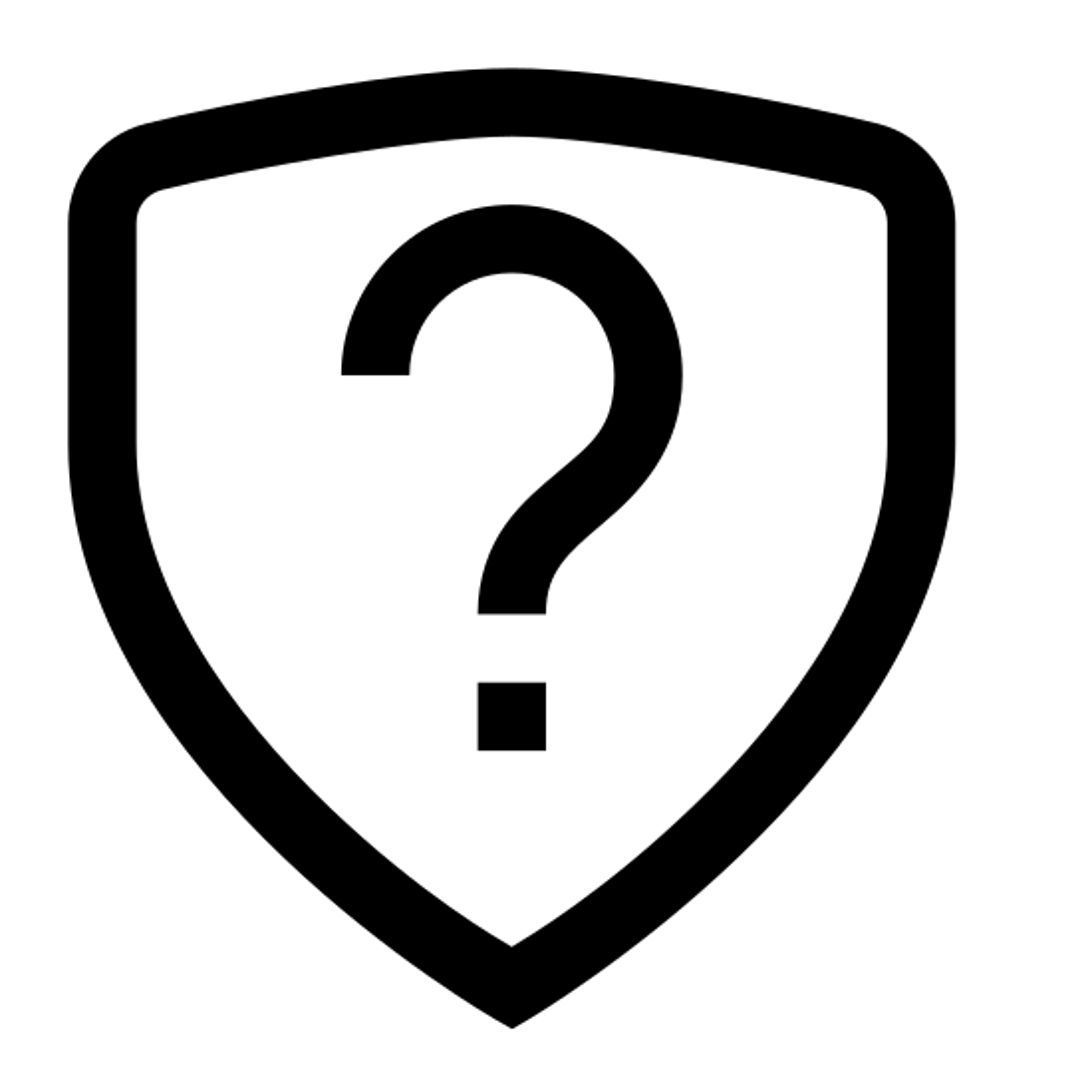 Escudo de pergunta icon