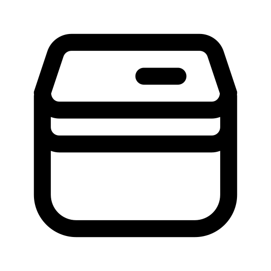 Spam Can icon. It's a depiction of a can of Spam. The can is made up of a rounded square with a lid on it. The lid has a tab on the right side and the main can has SPAM written on it in the center.
