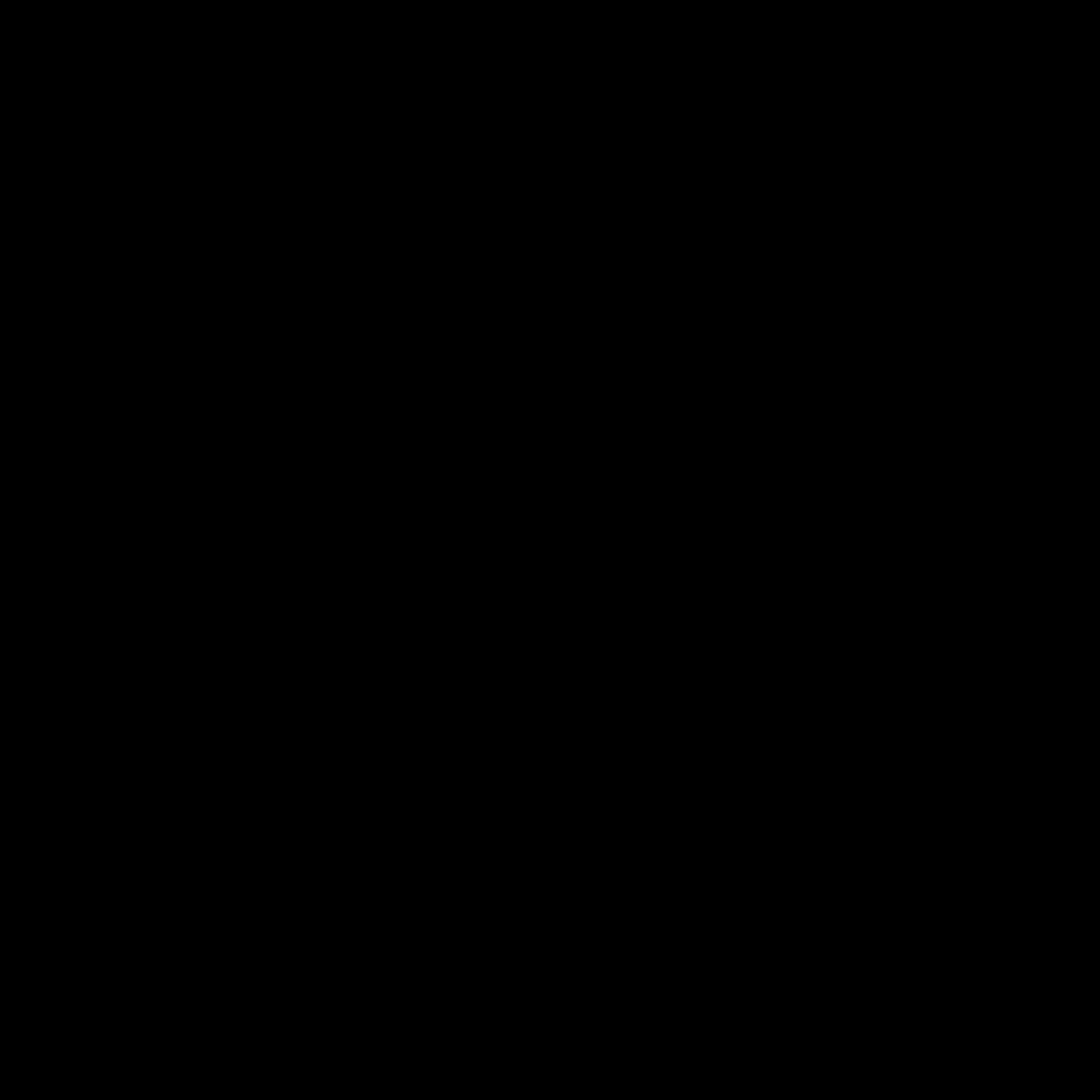 牛年 icon. This icon represents the head of an ox or could be seen as a cow or bull. It has two half ovals for eyes made to make him look angry. He has two curved horns that are both pointed at the end with two ears below them