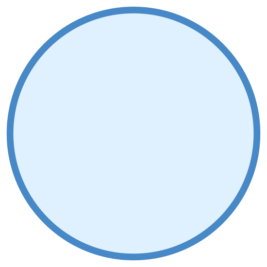 Active State icon. The icon for Active State is a large, round circle. The large, round circle is empty and there is nothing around the outside of the circle.