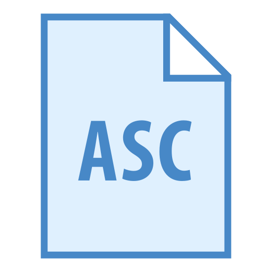 "ASC icon. This logo features a piece of computer paper with a fold placed on the top right corner of it. Inside of this paper are the letters ""ASC"" placed directly in the center."