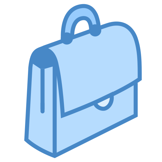 Messenger Bag icon. There is a handle at the top for carrying on the go. there is a flap in the middle where you can store objects. from the angle, you can see the sides and the front