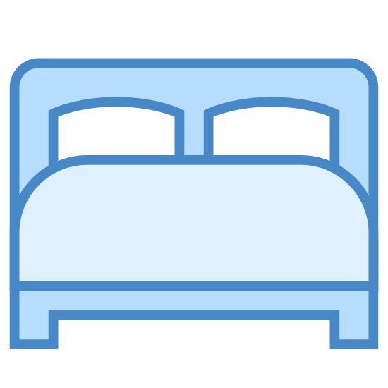 Łóżko icon. The bed is something that all maner of species use to rest on. They can come in all sort of sizes. They are one of the most common things that you can find in homes