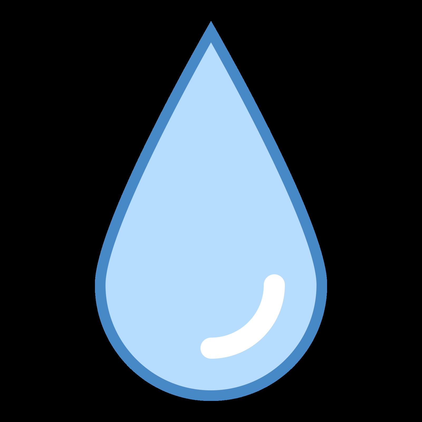 ぶれ icon. The icon is shaped simply like a tear drop falling downwards. The bottom of the shape is a curved semi circle and the top part of it is pointed like a triangle.