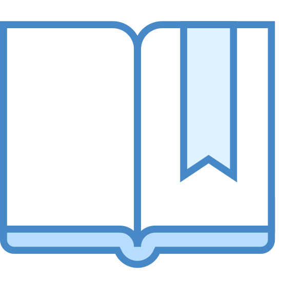 Bookmark icon. It's two pages of a book almost, if you were to take a piece of paper in the very middle and make an indentation as if it's curving inwards. Make those pieces inseparable, and then open it up to make a book thing. The purpose of the icon is to place a mark on a page, hence the name bookmark. It's a play on words mostly.