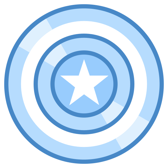 Kapitan Ameryka icon. Its Captain Americas Shield. Captain America is a super hero that pretty much wears an american flag suit color wise. his shield is a super strong shield that can stop bullets and explosives. he is part of marvels avengers series.