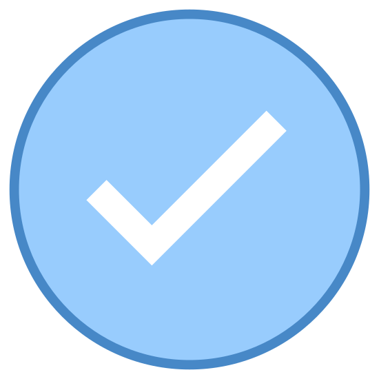 Проверено icon. The icon is shaped like a circle but the top right corner of it doesn't fully connect. At the center of the circle is a check mark. The end of the check mark sticks out the opening in the circle a bit.