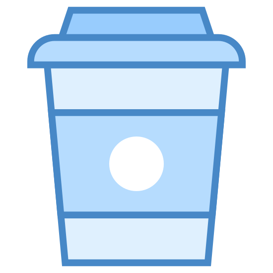 Kawa na wynos icon. This is a styrofoam cup that is used for coffee or other hot beverages. It is made of recyclable materials. The styrofoam cup keep the heat in the beverage. it also has a cardboard ring on it for your hand to make sure your hand does not get hot.