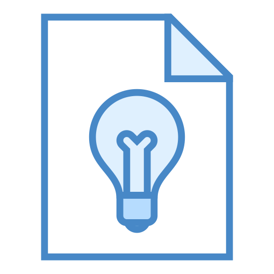 "Concept icon. This is a picture to represent ""concept"".  This icon is made by starting with a square.  Inside the square are two double sided arrows. One on the left hand side and one at the bottom.  There is a light bulb in the image on the top right hand side boxed in by the arrows."
