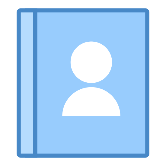 Kontakte icon. The icon is of a gender-less human face and upper torso. The gender-less human is also wearing a shirt. It could be thought to resemble a two dimensional bobble head.