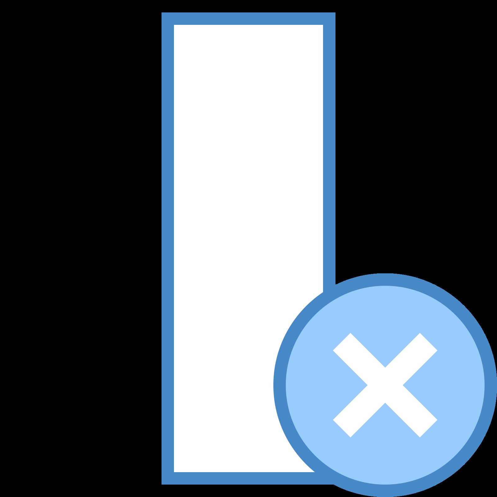 Usuń kolumnę icon