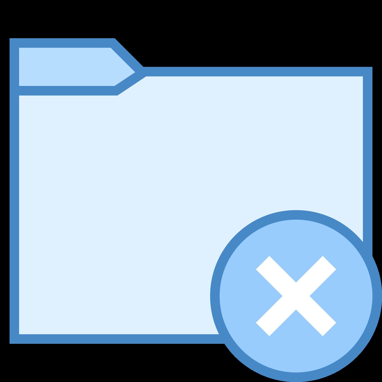 Usunięty folder icon