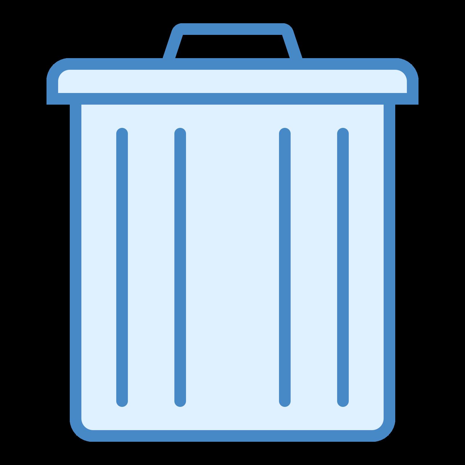 削除 icon. The icon shows an old style round metal trash can with closed metal lid on top. The icon would be seen on a computer or device as a place to delete items from the system.