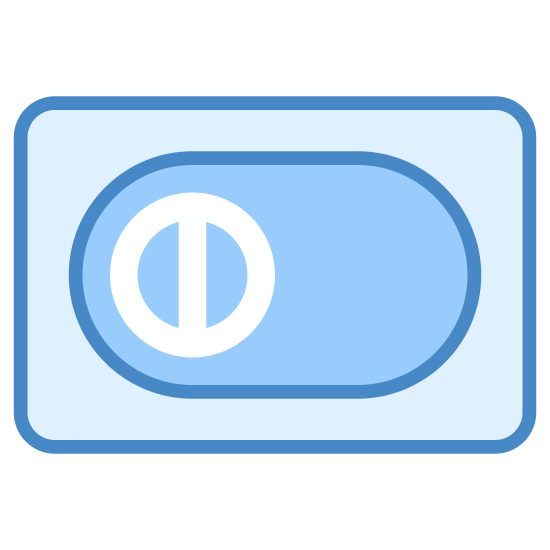 Diners Club icon. There is a single rectangular shape that is longer then it is wider, and with slightly rounded edges. In the middle of this shape there is a circle, and in the middle of the circle there is a line going through it vertically. Behind the circle there is a darker circle emulating a shadow.