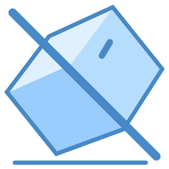 Do Not Tilt icon. It is a reduced icon of a three dimensional cube that is tilted on it's side.  The cube has a diagonal line going from the top middle corner to the bottom almost left corner.
