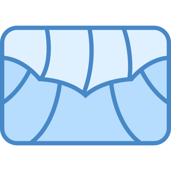 Dolmades icon. This looks like a rectangle going horizontally. It appears to be split into several sections, as many as nine.