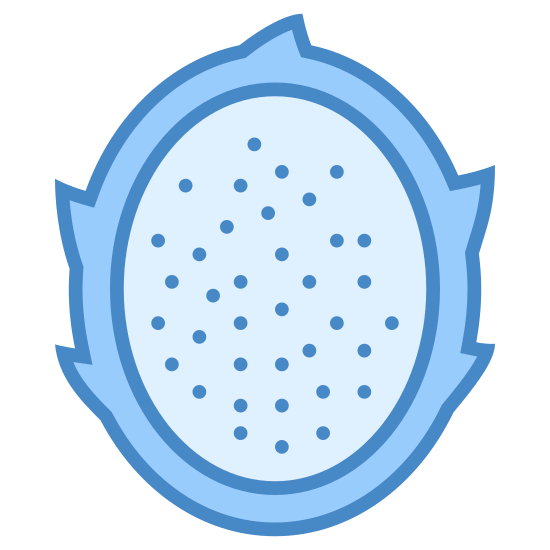 Dragon Fruit icon. Its a fruit with fire around it. u can see the dragon fruit with black spots on it. looks similar to a metoer