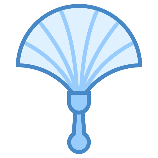 Duster icon. This is the logo of a duster which contains bristles protruding like a rainbow in a half arc. The bristles are supported by a handle used to maneuver the duster.