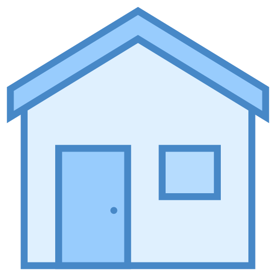 Exterior icon. The icon is the shape of a rectangle with the top line missing to complete it. The top of the rectangle is complete by a partial triangle with no bottom side to it. Inside the rectangle is a square at the upper left corner and another rectangle at the bottom right.