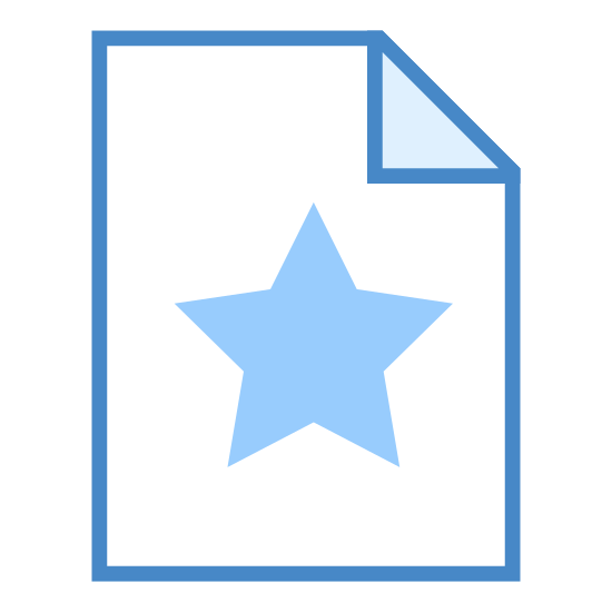 Bookmark Page icon. The icon is a picture of a logo for Favorite File. It is in the shape of a rectangle, with the top right corner folded inward, to make it look more like a piece of paper. There is a star located at the bottom right of the 'paper'