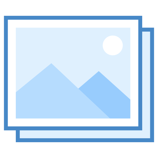 Gallery icon. This icon is of two squares placed over each other slightly askew with wavy lines out lining each one.