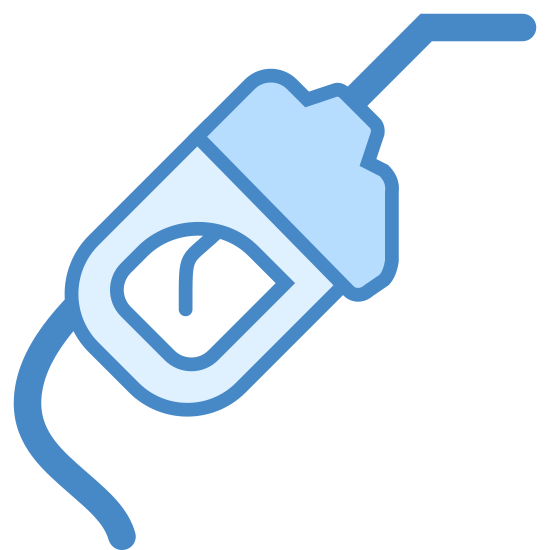 dystrybutor paliwa icon. This icon represents a gas pump. On the top right hand corner is a curved top straight piece going down into a rectangle shape with a rounded top and straight bottom with a rounded trigger in the middle. The straight bottom has a curved line coming out of it.